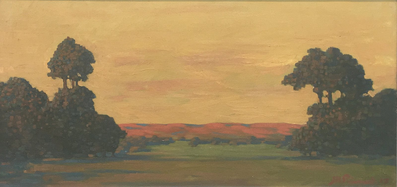 J.H-Pierneef-Landscape-with-trees-Oil-on-canvas-415-x-850mm-ABSOLUT-ART-GALLERY